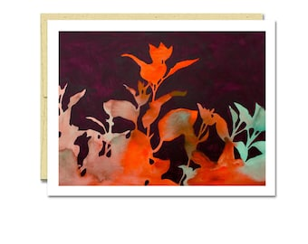 Smoke Bush Shadow Notecard // Everyday Card // Modern Card // Blank Notecard // Plant Card // NW Artist // Rachel Austin Card