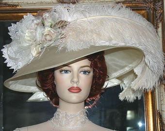 Downton Abbey Hat Ascot Hat - Run for the Roses