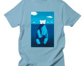 Polar Bear Shirt - Polar Bear top - Animal Print Shirt - Cute Shirt - Polar Bear Art  - Original from the Artist