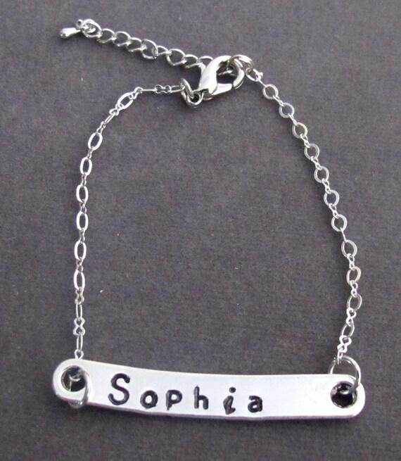 Dainty Bar Bracelet,Personalized Name Bar Bracelet,Boyfriend/Girlfriend gift,Bridesmaid gift,Bridal Jewelry,Christmas gift,Free Shipping USA