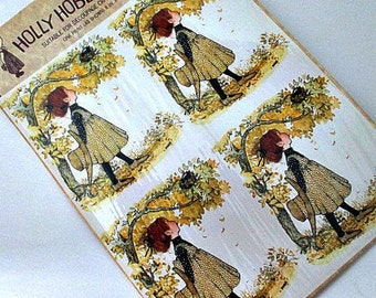 Vintage Holly Hobbie Prints - Decoupage Scrapbooking Altered Art Mixed Media Framing Craft Home Decor Supply
