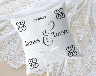 Personalized Ring Bearer Pillow, African Wedding, Wedding Accessories, Wedding Decorations, 16 Colors Available