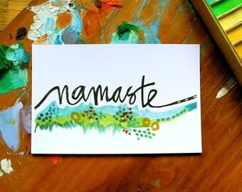 SALE - namaste - 4 x 6 inches