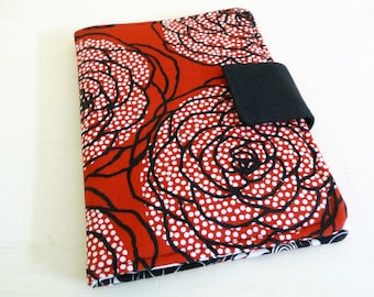 Red Rose Kindle Cover, Kobo Touch Case, Soft Book Style, Ready to Ship