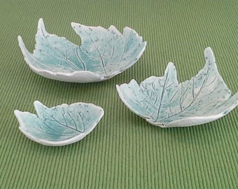 Small Leaf Dishes