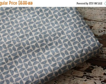 40% OFF- Blue Geometric Fabric-Reclaimed Bed Linens Fabric