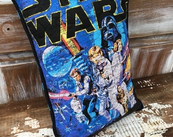 40% OFF- Star Wars Pillow-Throw Pillow--Upcycled Eco Friendly-Quilted-Classic