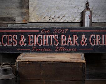 Custom Bar Sign, Home Bar Sign, Wood Bar Sign, Bar & Grill Sign, Bar Decor, Home Bar Decor, Bar Decor Sign - Rustic Hand Made Wooden Sign