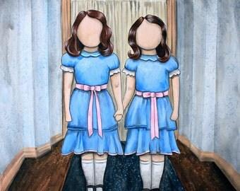 """Redrum -  ORIGINAL 20""""x20"""" Art by Marcia Furman - A Tribute to The Shining - Art by Marcia Furman"""