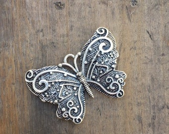 Antiqued Silver Butterfly Bracelet