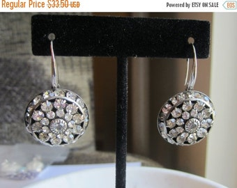 40% SALE Rhinestone Earrings, Clear Crystal Earrings, Wedding Earrings, Wedding Jewelry, Under 50,