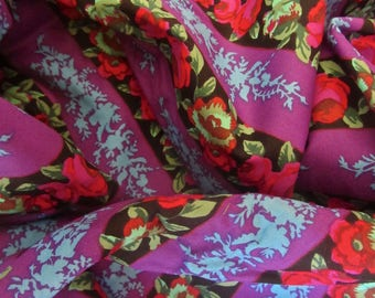 Kaffe Fassett Cotton Fabric OOP GP62 Floral Stripe Rowan Fabrics