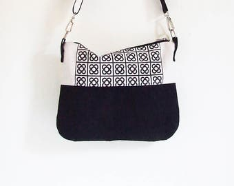 BCN Waxed Canvas Bag for Woman ,  Crossbody Bag , ScreenPrint