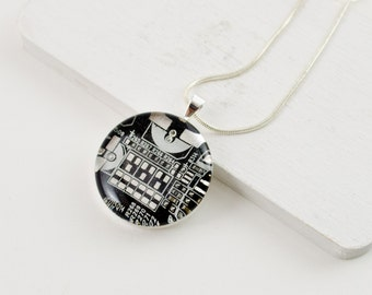 Circuit Board Necklace Black and Silver - Upcycled Computer Jewelry - Motherboard Necklace - Geeky Gift for Her