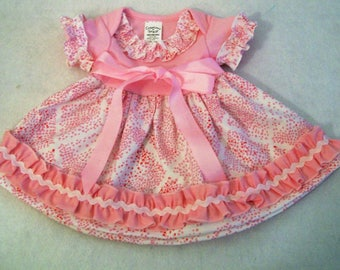 Baby Girls Dress, Pink Baby Girls Knit Top Dresss, Baby girls Clothing, Baby Shower Gift, handmade Dress, made in the USA, #167
