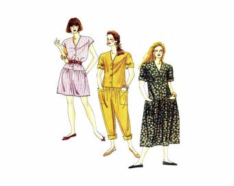 Misses Dropped Waist Jumpsuits and Dress McCalls 0022 Sewing Pattern Size 16 - 18 - 20 Bust 38 - 40 - 42 UNCUT