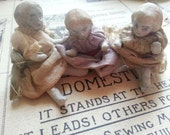 Three Gorgeous Antique Bisque Dolls. Articulated. Small. One Missing Her Legs.