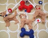 "Baby Mobile - Baby Crib Mobile - Dog Mobile - Nursery Baby Room ""Glorious Goldens"""