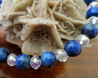 Lapis and Crystal Bracelet