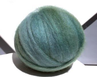 Sage Green wool roving, Spinning, Needle Felting Spinning wool, yellow grey green, blue grey green roving