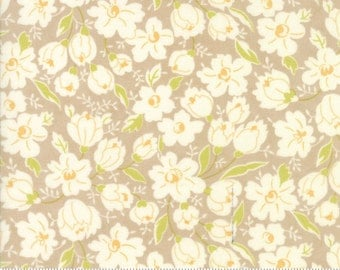 Coney Island - Buttercups in Boardwalk Tan: sku 20285-18 cotton quilting fabric by Fig Tree and Co. for Moda Fabrics - 1 yard