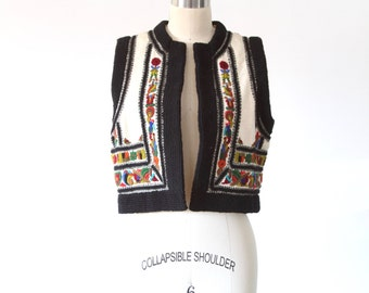 Ethnic Embroidered Wool Vest