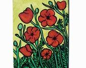 Poppy Painting - Red Popp...