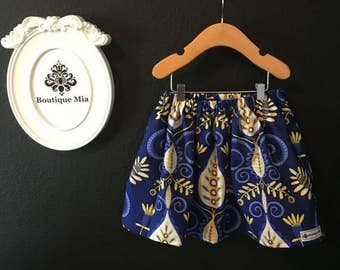 Sample SALE - Will fit Size 6-12 month to 2T - Ready to MAIL - SKIRT - Michael Miller - Maxfield - by Boutique Mia