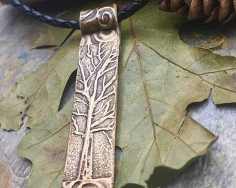 Bronze Tree Pendant, One Tree Necklace, Tree of Life Jewelry, Irish Jewelry, Bronze Tree Necklace, Druid Trees, Celtic Trees, Pagan, Wicca