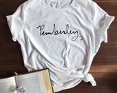 Pemberley T-shirt - Jane Austen - Pride and Prejudice - screen printed - womens size S, M, L, XL, 2XL