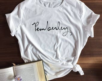 NEW - Pemberley T-shirt - Jane Austen - Pride and Prejudice - screen printed - womens size S-2X