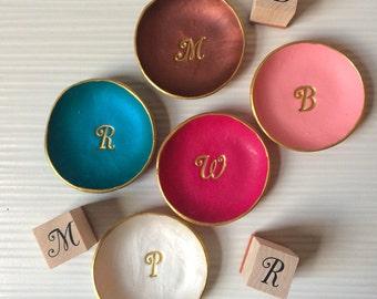 "2-3/4""  Initial jewelry dish/decorative tray"