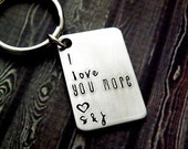 personalized keychain, i love you more, valentines day gift for men, gift for women, personalized gift