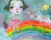 Always Choose Joy - mixed media art print by Mindy Lacefield