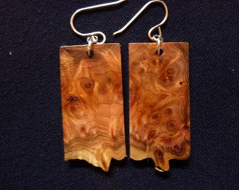 Red Cedar burl earrings #2