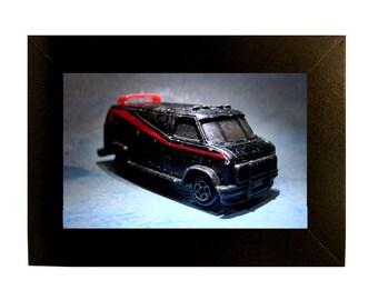 """Framed A-Team Van Toy Photograph 4x6"""" Matchbox"""