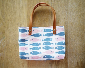 fish mini tote bag
