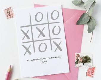 Xoxo Noughts And Crosses Valentine's Day Card - Valentine's Day Greetings Card
