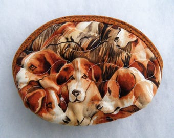 Small Quilted Purse - Beagles