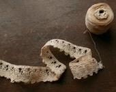 Antique Ric Rac Crochet Lace 4' Length