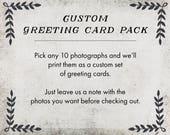 Custom Greeting Card Set - greeting card, greeting card set, nature art greeting card, landscape, blank inside, blue, nature, photo art,