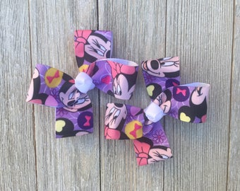 Mouse Hair Bows,Pigtail Hair Bows,Alligator Clips,3 Inches Wide,Non Slip Hair Bows,Birthday Party Favors