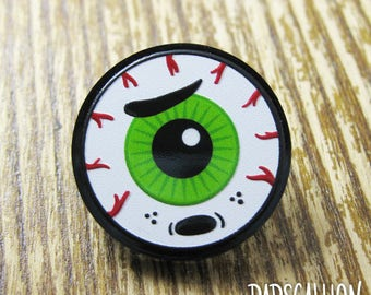Sad Eyeball Acrylic Lapel Pin