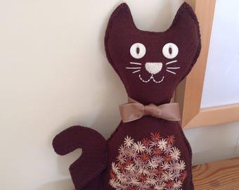 Felt Cat   Brown Cat