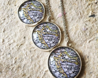 Croatia Map Necklace