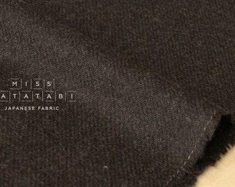 Japanese Fabric Wool Twill - chocolate brown - 50cm
