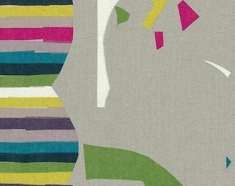 Nani Iro Kokka Japanese Fabric Wonder world canvas - grateful - 50cm