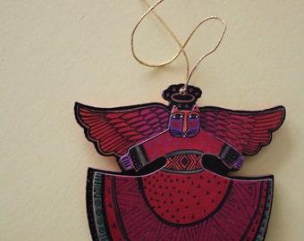 VINTAGE angel cat ornament by LAUREL BURCH