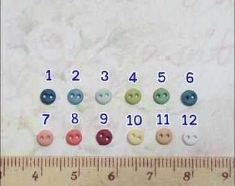 Tiny Mini Button Round Shape - 20 pcs - 4 mm For Doll Dress Supplies