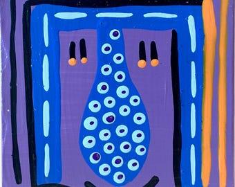 Get Under It To Get Over It / original painting / dot dot dot line line line / 5209